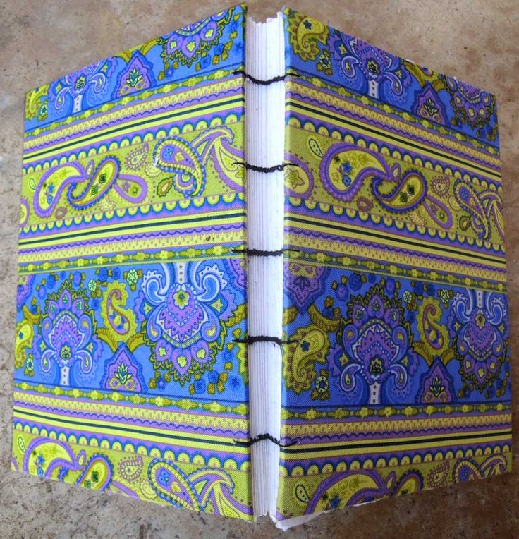Blank hand made coptic bound journal  paisley by sayraphim on Etsy, $36.00