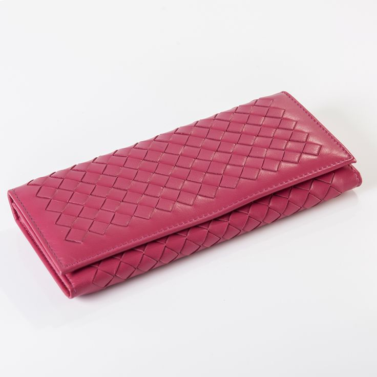 ISHARES two fold  genuine leather women long wallets high quality woven sheep leather coin buckle purse card & ID holder IS6005