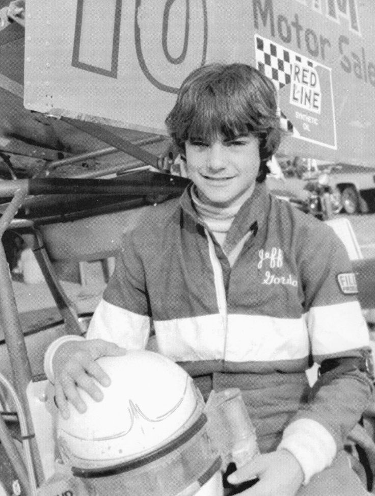 Recognize this face? That's a young Jeff Gordon making a name for himself on the track in 1984 -- at age 13.
