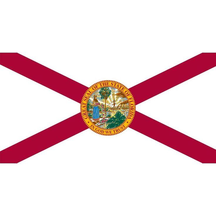 Sola Florida Flag Beach Towel, Red/White