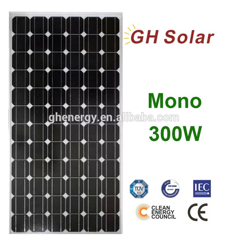 GH SOLAR-high quality 300W mono solar panels manufacturers in china cheap solar panels price