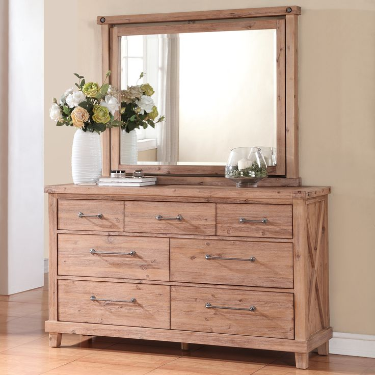 Yosemite Solid Wood Dresser With Optional Mirror Cafe The