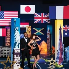 A fun idea for a #PromTheme is a Passport to #Prom including flags and landmarks from everywhere from Great Britain to China.