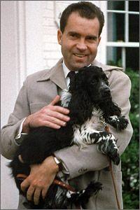 President Richard Nixon and Checkers