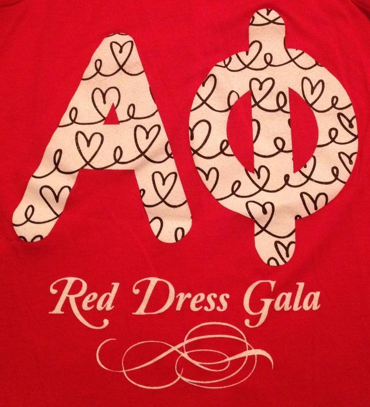 Red Dress Gala shirt @UK Alpha Phi Iota Nu
