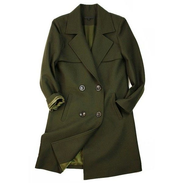 Military Coat with Double Breasted Design ($234) ❤ liked on Polyvore