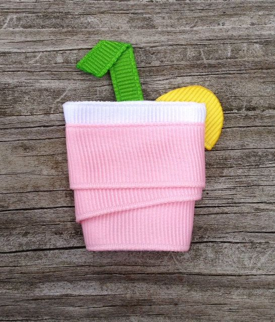 Pink Lemonade Ribbon Sculpture Hair Clip - Toddler Hair Clips - Girls Hair Accessories... Free Shipping Promo. $3.75, via Etsy.