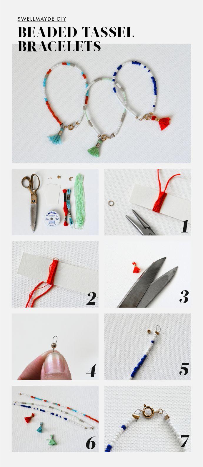 DIY | BEADED TASSEL BRACELETS