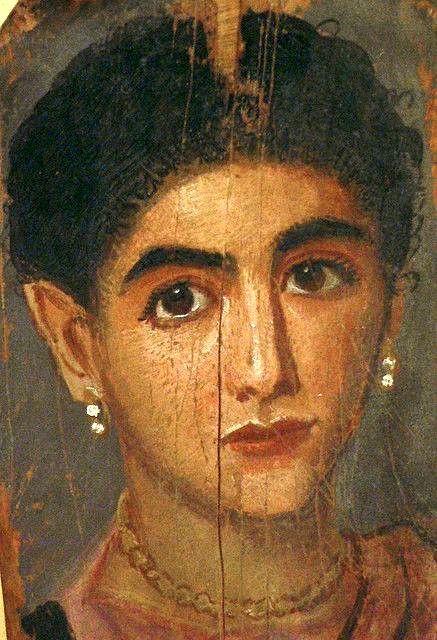Mummy portrait of woman, Thebes, AD 150-200 (Musée du Louvre)