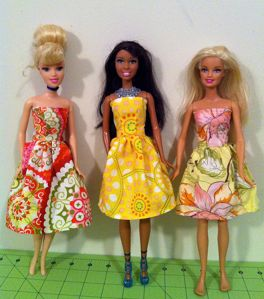 Hoping with my sister here tomorrow I can make the girls some Barbie Clothing.
