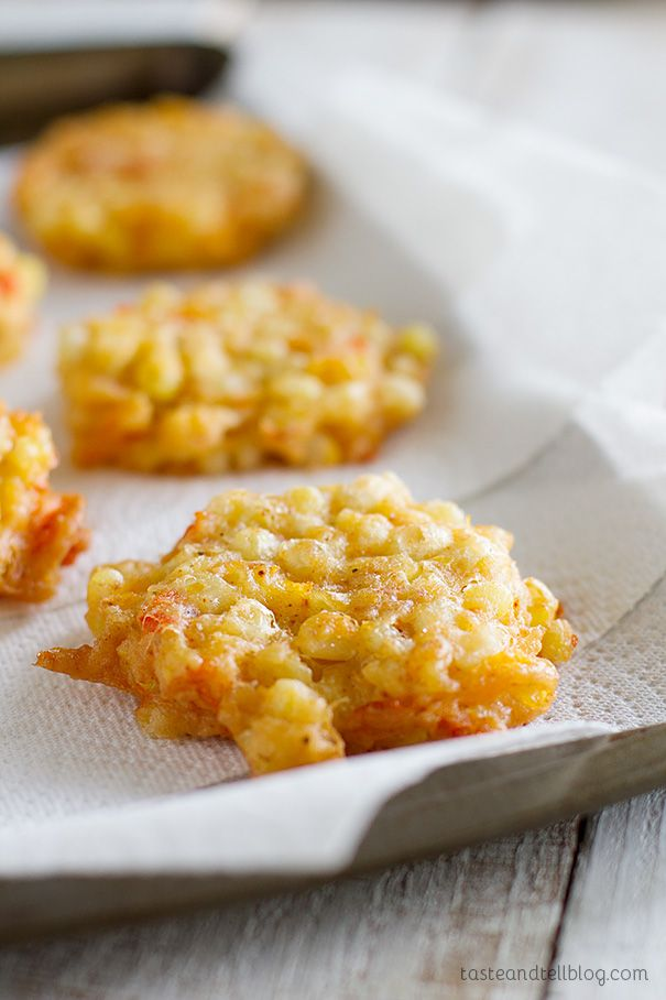 These corn fritters are made from corn that is combined with cheddar cheese and then fried into little cakes that are melt-in-your-mouth delicious.