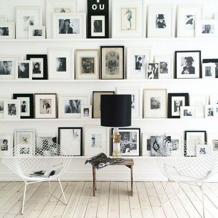 10 Prachtige Muren Vol Fotokaders - Fotokaders kunnen een saaie muur in een echte blikvanger omtoveren. Al wat je nodig hebt is een groot aantal fotokaders en speelse foto's.