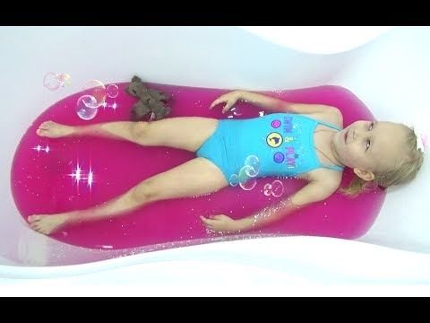 ВЛОГ Розовый снег для ванны с блёсками !!! Купили шкаф для одежды Алисы ...