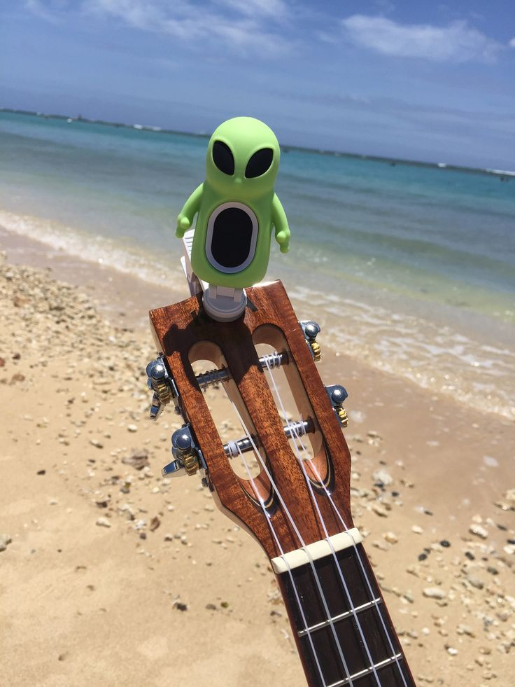 Charactune™ Alien Digital Tuner for String Instruments - Ukulele, Guitar, Violin, Viola, Cello, Banjo, Mandolin, Harp