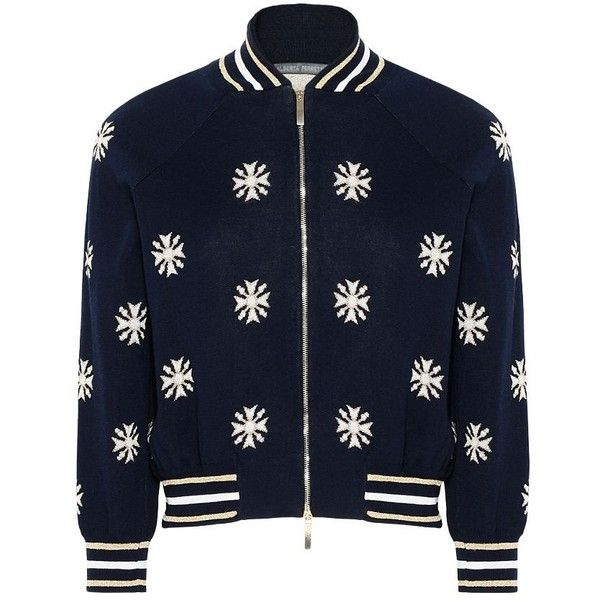 CROSS NAVY BOMBER ($980) ❤ liked on Polyvore featuring outerwear, jackets, navy bomber jacket, bomber jacket, blue bomber jacket, navy blue bomber jacket and navy blue jackets
