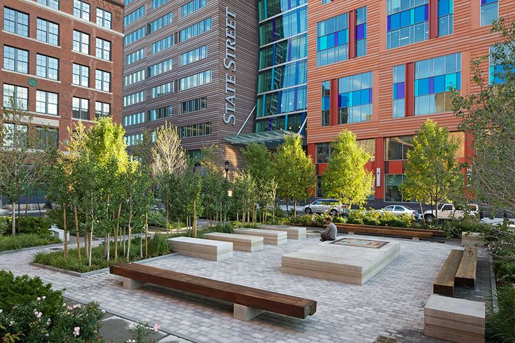 Channel Center Park and Iron Street Park by Halvorson Design Partnership | Boston, Massachuesettes