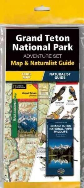 Grand Teton National Park Wyoming, USA Adventure Set: Map & Naturalist Guide