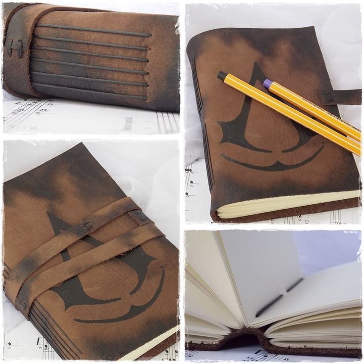 Holy crap!! I WANT! Lol Leather Sketchbook Inspired By Assassin's Creed by ChrisOnly.deviantart.com on @deviantART