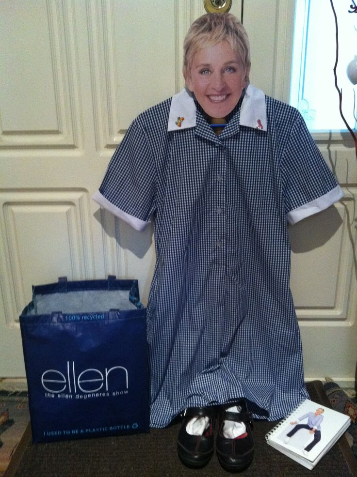 Is this your first day at school Ellen?!! Too cute Yep #bagthatellen & #doitinadress