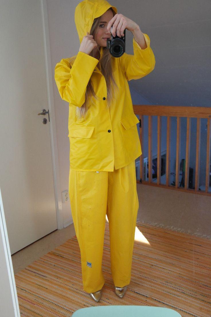 Yellow Helly Hansen rainwear