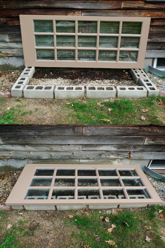 how to build a cinder block window well