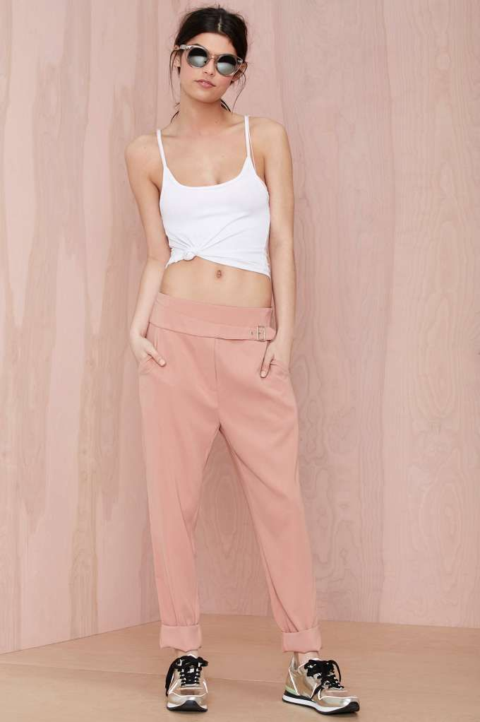 Nasty Gal Leg Up Belted Trouser - Sale: 60% Off and Up | Pants