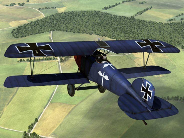 Jaser J-18 Albatross World War I Fighter. Rudolph Berthold airplane. 44 kills