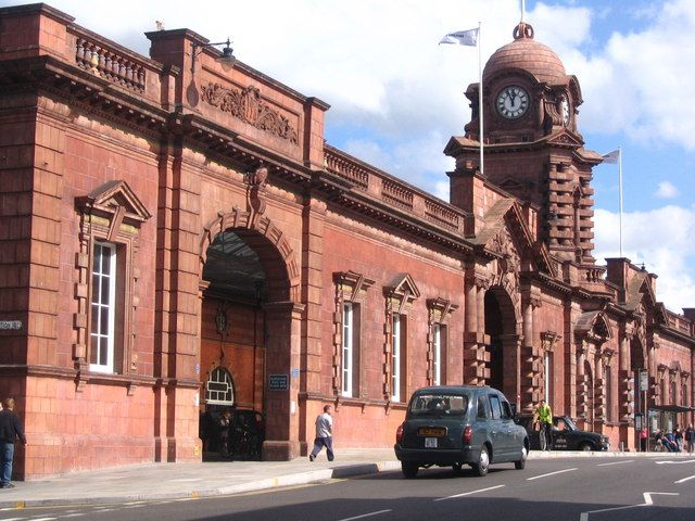 Nottingham railway station, England