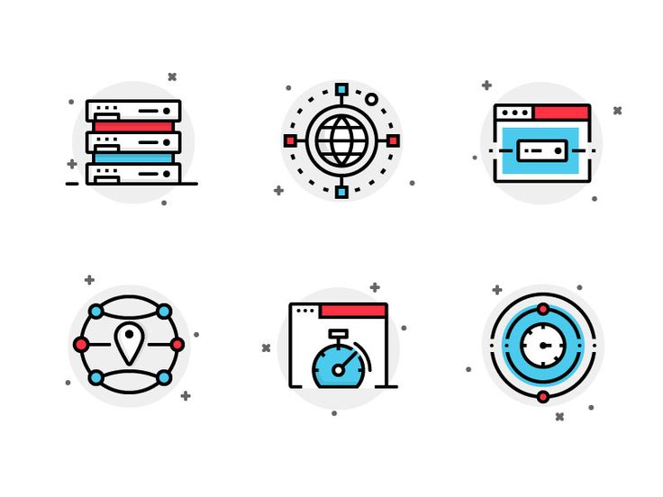 Icons for hosting company.. This ain't the final tho - you might see the progress later.  I hope you enjoy this, more icon works are coming. I would like to know your thoughts, press L if you posit...