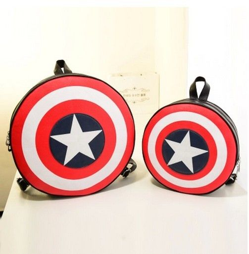 2016 New Fashion Women and Men Backpack Captain America Shield Backpack Unisex School Bags Backpacks for Teenage Girls and Boys #jewelry, #women, #men, #hats, #watches, #belts, #fashion