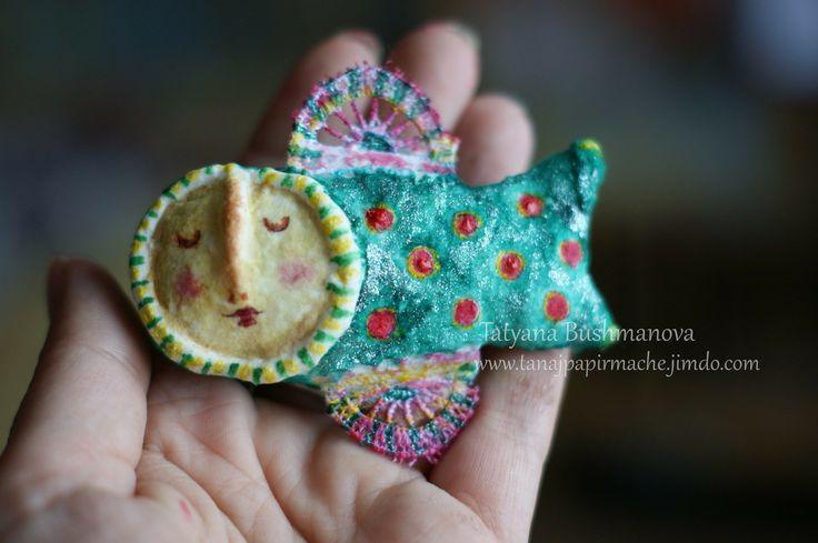 Spun cotton ornaments by Tatyana Bushmanova