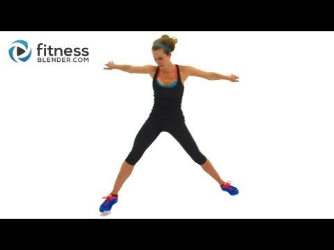 Fat Burning Cardio Workout for Butt and Thighs with Yoga Cool Down - 27 Min Interval Cardio Training - YouTube