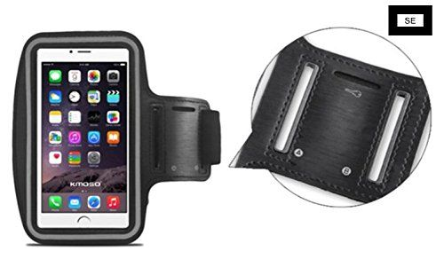 SE ArmBand - iPhone 5/5s/6/6s/7 - Sports armband, water resistant with secure key pocket. NEW comfort strap for extended exercise. Easy cleaning! (Orange). MONEY BACK GUARANTEE: 100% money refunded if not completely satisfied with SE ArmBand. Simply return the armband and we will refund entire order with no hassle. QUALITY MATERIALS: SE ArmBand is made with the highest quality materials so it can keep up with your workouts! The phone case is water resistant for outdoor use and has our new...