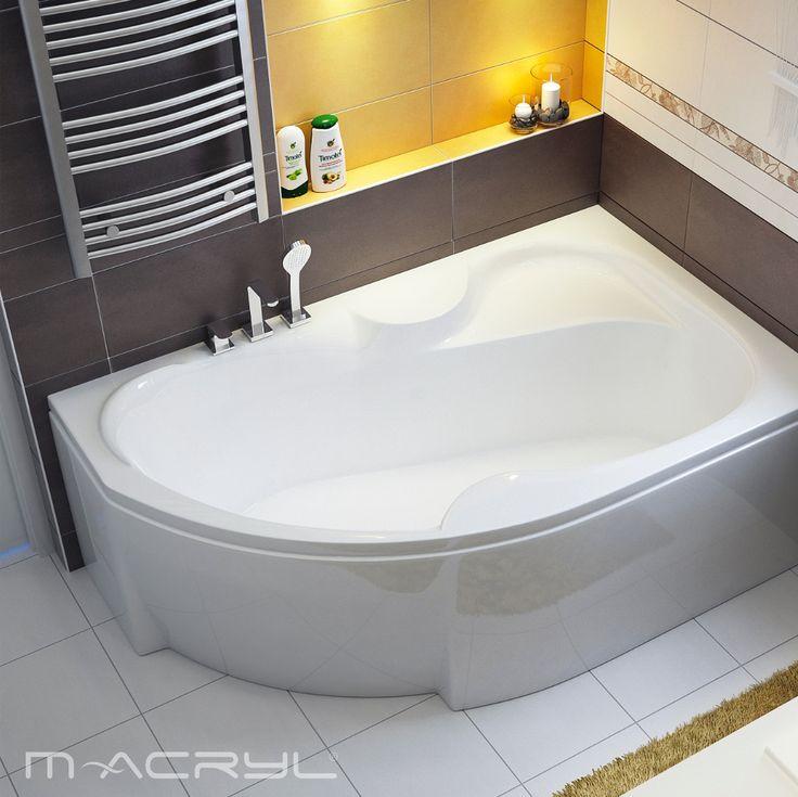 Az Azalia a felfrissülés minden változata. Nincs kedve a teljes kádban elmerülni? Üljön a kád ülőkéjére vagy zuhanyozzon. #macryl #macrylkád #macrylkádak #akrilkád #fürdés #fürdőszoba #relax #kikapcsolódás #lakberendezés #inspiráció #belsőépítészet #minőség #design #health #bathroom #interiordesign #sarokkád