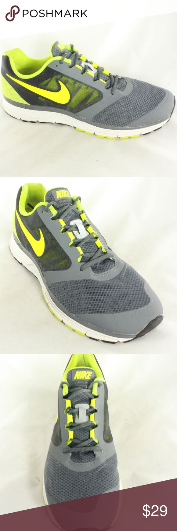 Nike Zoom Vomero Yellow Gray Active Running Shoes Lightweight, very breathable, and still supportive and cushioned running shoes. Upper is mint condition. Insole and midsole are clean and sole is 9.5/10 condition with almost no normal wear. Great shoes for casual wear, running or gym sessions. Does not come with insole pad. Size 14 Nike Shoes Athletic Shoes