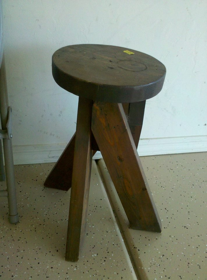 the famous wood stool made in woodshop