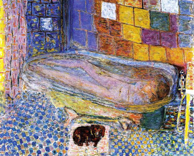 Пьер Боннар. «Дама с собачкой в ванне». 1941-46.