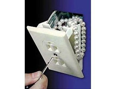Great place to keep your valuables safe. Maybe this explains those outlets that never seem to work.