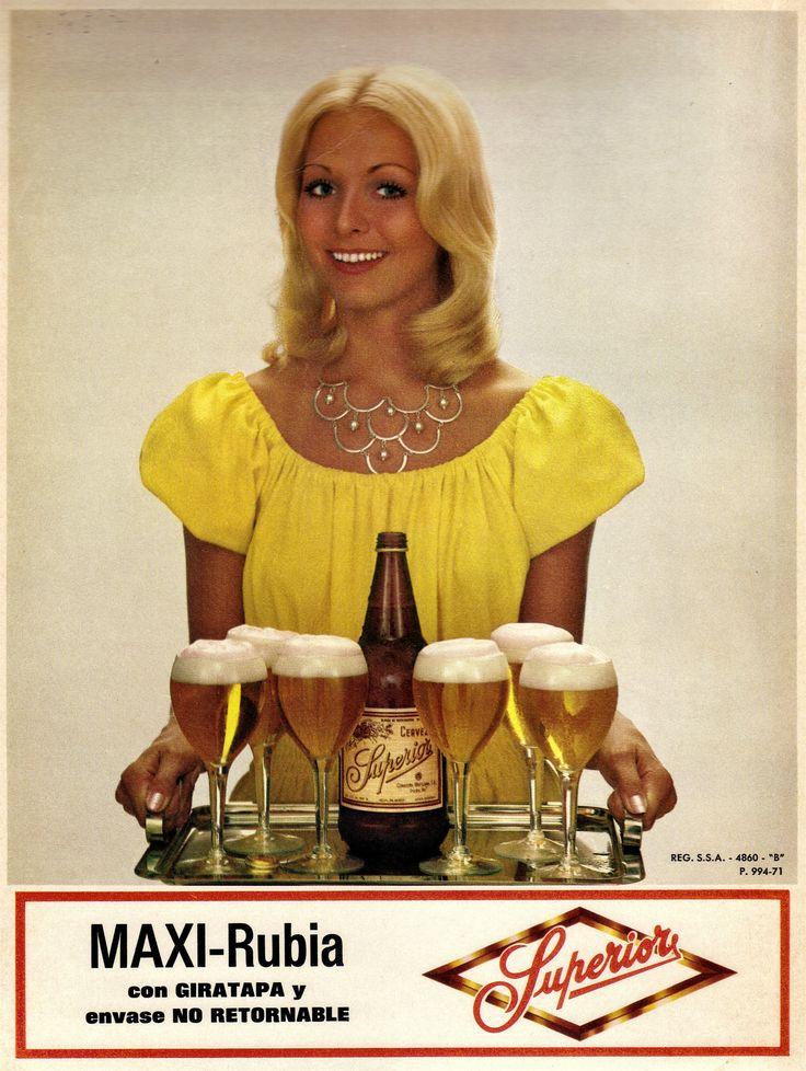 Publicidad Cerveza Superior; México, años 70s.