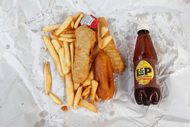 Friday night dinners of Fish 'n' chips and L! Yum!!!