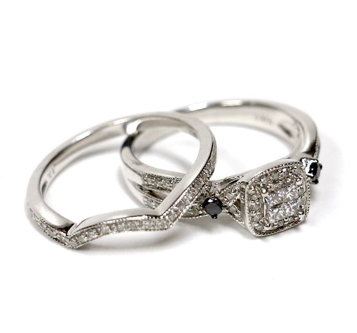 Diamond engagement ring sets, perfectly designed for one another.