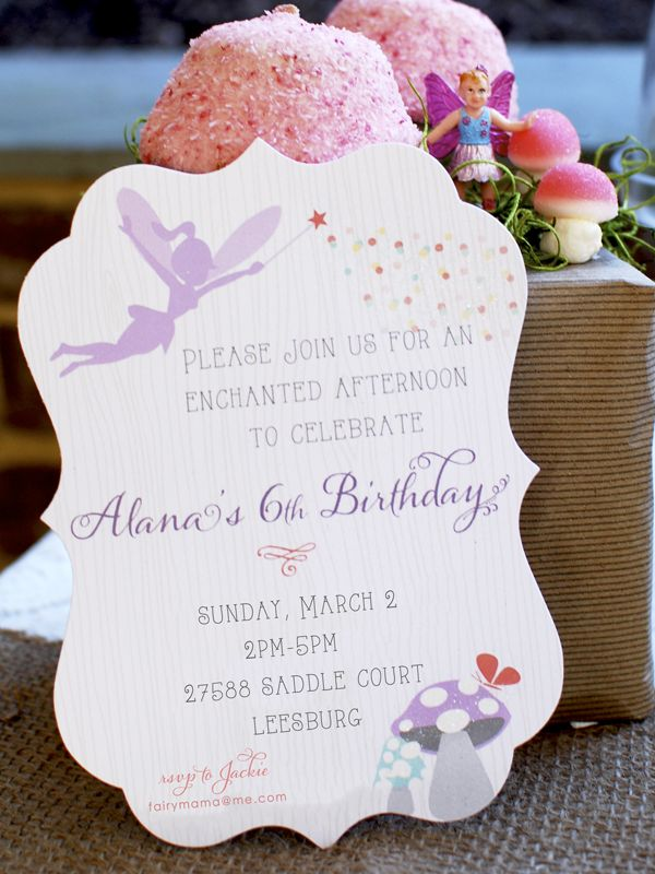 wording ideas forst birthday party invitation%0A Nature Inspired Woodland Fairy Birthday Party