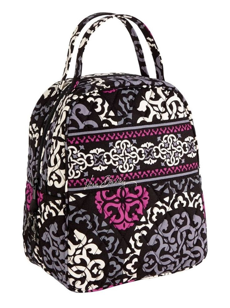 VERA BRADLEY Lunch Bunch CANTERBERRY MAGENTA Insulated Bag Box Cosmetic $34 NEW #VeraBradley