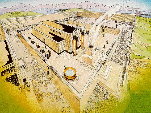 The First Temple of Jerusalem was built by King Solomon in the 10th century b.c. on Mount Moriah. When it was complete, the Ark of the Covenant was moved there. This led to a sort of centralization of worship. The Temple became the religious and national meeting place for the Israelites. Although it was destroyed in 586 b.c. by the Babylonians, King Solomon's Temple has been called one of the seven wonders of the world. Its destruction kind of represented the decline of Judaism in Jerusalem.