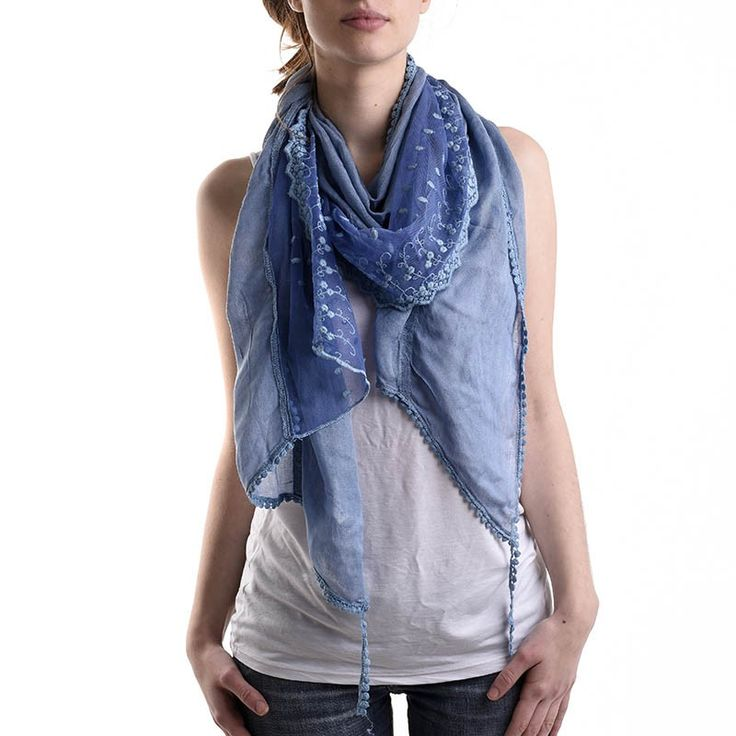 SCARF IN BLUE COLOR - Scarfs/Sun Dresses