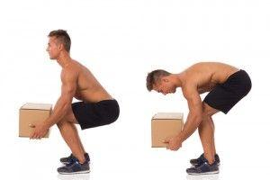 Richtige Körperhaltung beim Heben