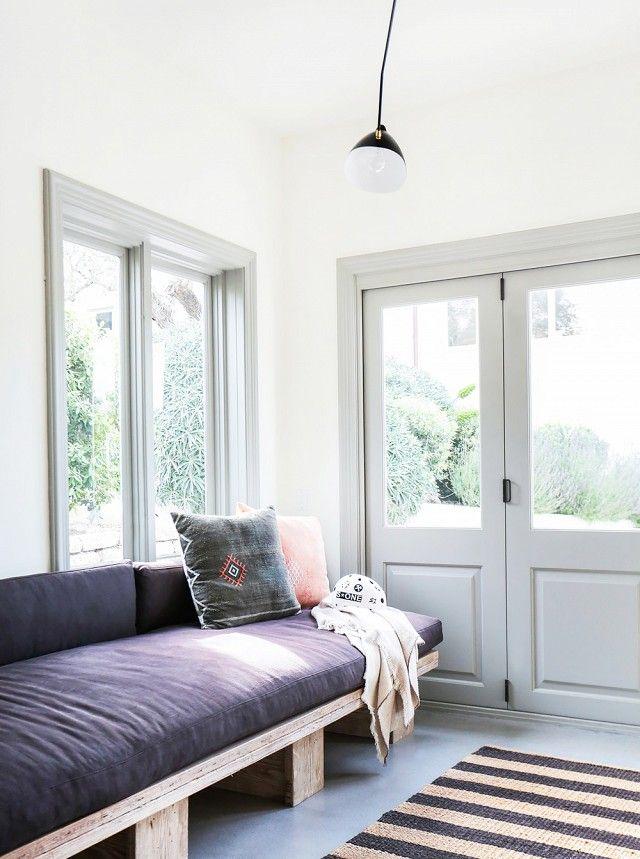 Guest bed.... Tour an Interior Designer's Ultra-Cool Malibu Farmhouse   MyDomaine