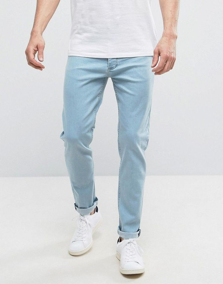 Get this Saints Row's slim jeans now! Click for more details. Worldwide shipping. Saints Row Slim Fit Jeans in Blue - Blue: Jeans by Saints Row, Firm-stretch denim, Light wash, Concealed fly, Functional pockets, Slim fit - cut close to the body, Machine wash, 98% Cotton, 2% Elastane, Our model wears a W 32 Regular and is 188cm/6'2 tall. (vaquero slim, stretch, fit, ajustado, tapered, estrechos, ajustados, jeans slim fit, jeans slim, jean slim, jeans slim)