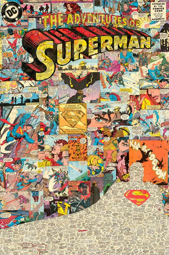 Adventures of Superman 24x36 Giclee Print by ComicReliefOriginals, $95.00