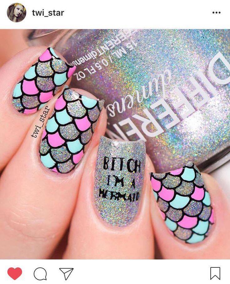 Best 25+ Mermaid nail art ideas on Pinterest | Disney nail ...